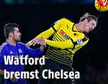 Chelsea's Diego Costa gegen Watford's Sebastian Prödl