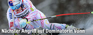 Lindsey Vonn beim Training in Garmisch