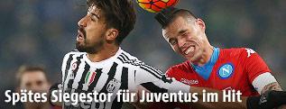 Sami Khedira (Juventus) und Marek Hamsik (Napoli)
