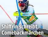 Mikaela Shiffrin während des Damen-Slaloms in Crans-Montana
