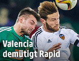 Szene aus dem Spiel Rapid - Valencia