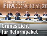 Funktionäre der FIFA bei einem Kongress