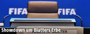 Leerer Stuhl des FIFA-Präsidenten