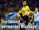 Pierre-Emerick Aubameyang (Dortmund) gegen Fabian Schaer (Hoffenheim)