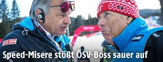 Hans Pum (ÖSV Sportdirektor), Prof. Peter Schröcksnadel (ÖSV Präsident)