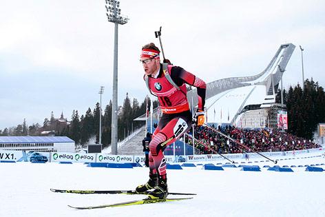Simon Eder bei der Biathlon-WM in Oslo