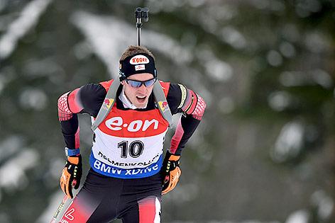 Dominik Landertinger bei der Biathlon-WM in Oslo