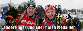 Dominik Landertinger und Simon Eder bei der Flower Ceremony
