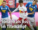 Jonatan Soriano (RBS), Matthias Maak und Tobias Kainz (Groedig)