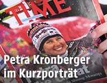 Eine Frau blaettert in einer Ausgabe des Time-Magazine vom 24. Februar 1992, mit dem Coverbild der Schirennlaeuferin Petra Kronberger