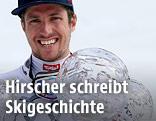 Marcel Hirscher mit Weltcup-Kugeln