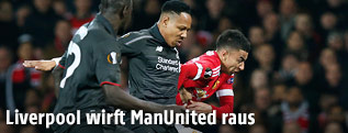Szene aus dem Spiel Manchester United gegen Liverpool
