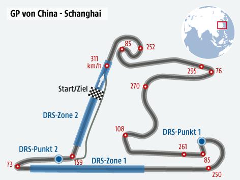 Formel 1 Strecke von China