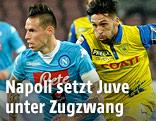 Marek Hamsik (Napoli) und im Spiel gegen Chievo Verona