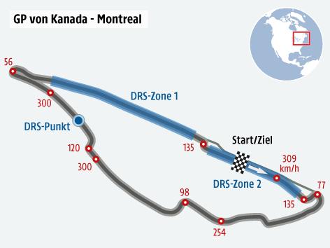 Formel 1 Strecke von Kanada