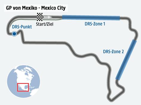 Formel 1 Strecke von Mexiko