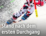 Skifahrer im Riesentorlauf
