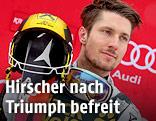 Marcel Hirscher bei der Siegerehrung