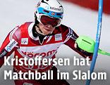 Henrik Kristoffersen fährt Slalom