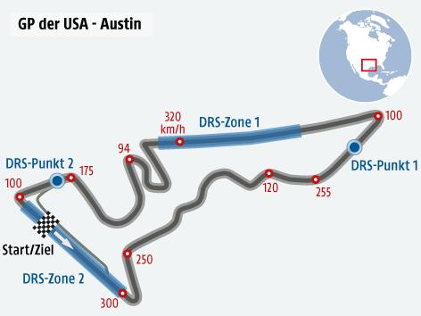 Formel 1 Strecke der USA