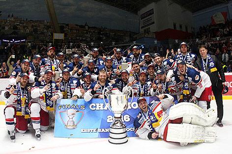 Salzburg beim Feiern des Meistertitels