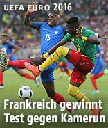 Paul Pogba (Frankreich) gegen Ambroise Oyongo Bitolo (Kamerun)