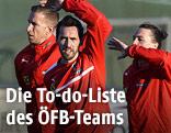 ÖFB-Team beim Training
