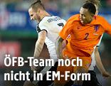 Spielszene Österreich - Niederlande
