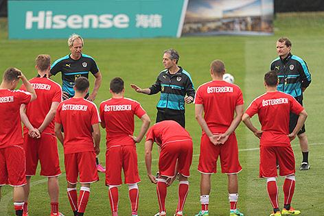 Marcel Koller mit dem ÖFB Team am Trainingsplatz