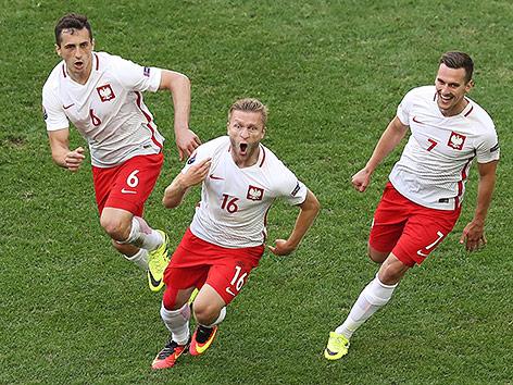 Jubel der polnischen Mannschaft