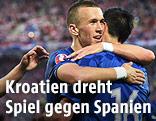 Jubel der kroatischen Mannschaft