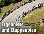 Straße mit Radsportlern
