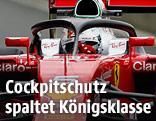 Sebastian Vettel mit Cockpitschutz
