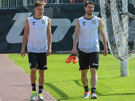 Stefan Hierlaender (Sturm) and Christian Schulz (Sturm)