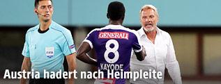Trainer Thorsten Fink und Olarenwaju Kayode