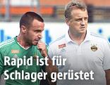 Rapid-Trainer Mike Büskens und Steffen Hofmann