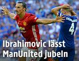 Jubel von Zlatan Ibrahimovic (Manchester United)
