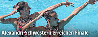 Synchronschwimmerinnen Anna Maria Alexandri und Eirini Marina Alexandri (AUT)