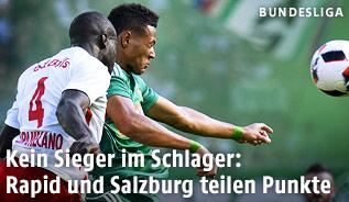 Dayot Upamecano (Salzburg) gegen Joelinton (Rapid)