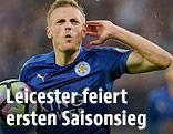 Jubel von Jamie Vardy (Leicester City)