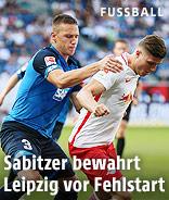 Pavel Kaderabek (Hoffenheim) und Marcel Sabitzer (RB Leipzig)