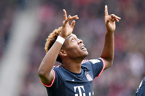 David Alaba (Bayern) jubelt