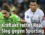 Sebastian Coates (Sporting) gegen Cristiano Ronaldo (Real)