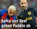 Neymar (Bayern) und Juanfran (Atletico Madrid)
