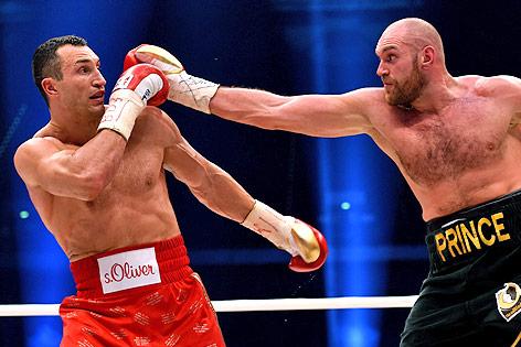 Boxkampf zwischen Wladimir Klitschko und Tyson Fury