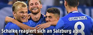 Jubel der Schalke-Spieler