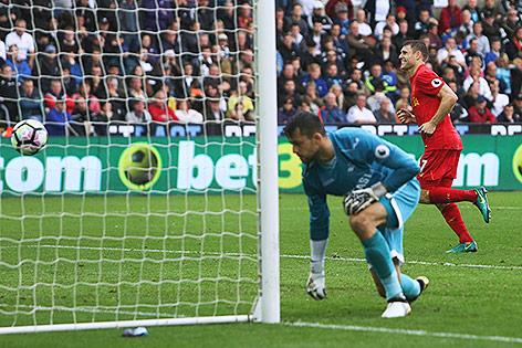 Verwerteter Elfmeter von James Milner (Liverpool)