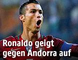 Jubel von Cristiano Ronaldo (Portugal)