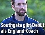 England-Teamchef Gareth Southgate beim Training