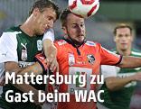 Alois Höller (Mattersburg) gegen Christian Klem (WAC)